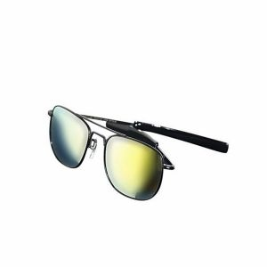 Black and Lemon Metal Sunglasses For Men
