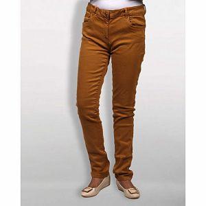 Deep Brown Gabardine Pant for Women