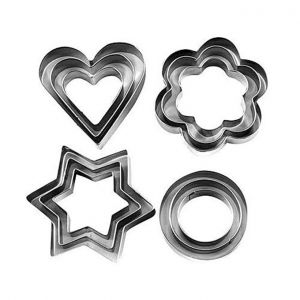 Cookie Cutter 12 Pcs - Silver
