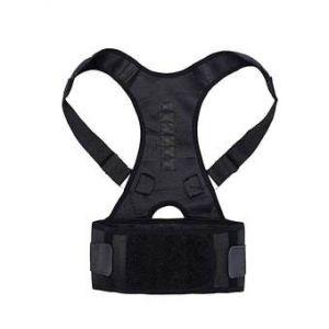 Real Doctors Sweat Belt Posture Brace Shoulder Back Support  - Black