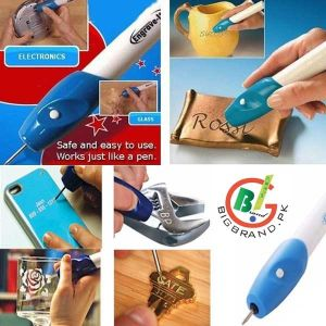 Electronic Engraver Curving Pen - Blue and White