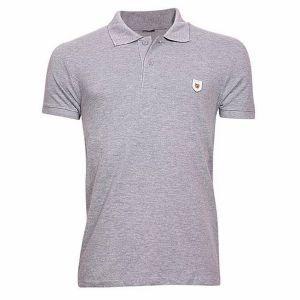 Cotton-casual-short-sleeve-polo-gray