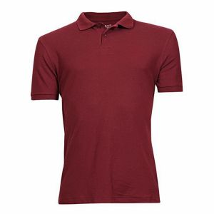 Cotton-casual-short-sleeve-polo-maroon