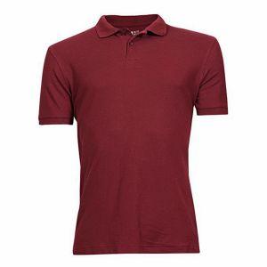 Cotton-casual-short-sleeve-polo-maroon
