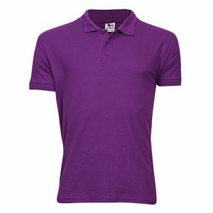 Cotton-casual-short-sleeve-polo-purple