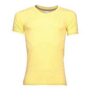 Yellow-cotton-casual-v-neck-t-shirt-for-men