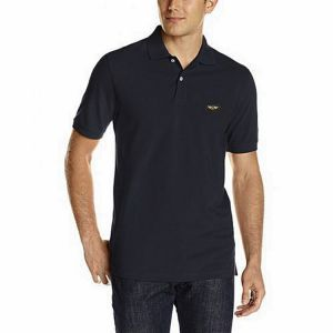 Black pk casual polo for men