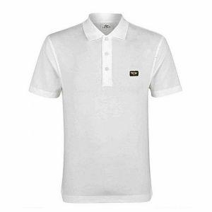 White pk casual polo for men