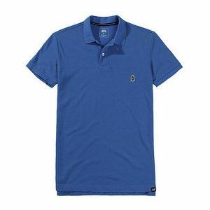 Sky blue pk cotton casual polo for men