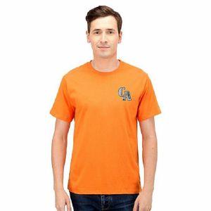 Orange cotton short sleeve t shirt for men