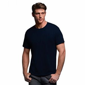 Navy blue pk casual short sleeve t shirt for men