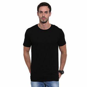 Black pk casual short sleeve t shirt for men