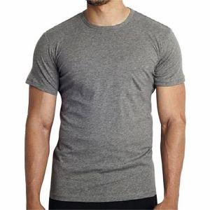 Gray pk casual short sleeve t shirt for men