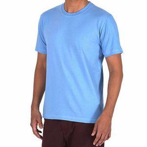 Sky blue pk casual short sleeve t shirt for men