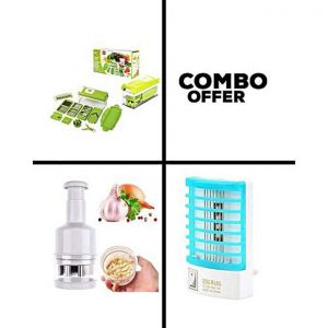Combo Of Nicer Dicer Plus, Vegetable Chopper and Mosquito Lamp