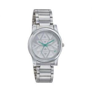 Silver Stainless Steel Analog Watch for Men-FTB0034