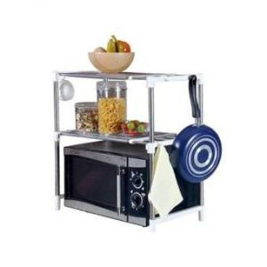 Microwave Oven  Storage Rack - Silver
