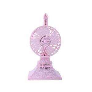 Eiffel Tower Shaped Mini Desktop USB Fan  - Violet