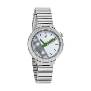 Silver Stainless Steel Analog Watch for Men-FTB0035