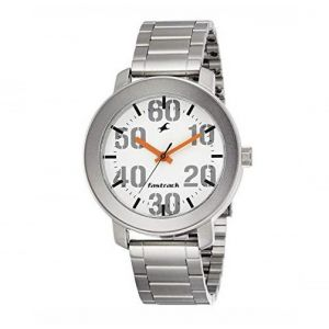 3121SM01 Stainless Steel Analog Watch for Men - Silver