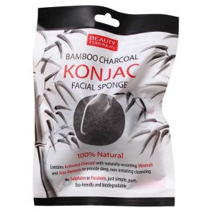Beauty formulas bf bamboo charcoal konjac sponge 100 ml