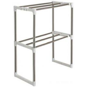 Master Kitchen Microwave Oven Storage Racks - Silver