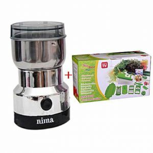 Master Kitchen Nima Electric Grinder with Nicer Dicer Plus - Silver