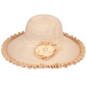 Off White Cotton Summer Travel Hat for Women
