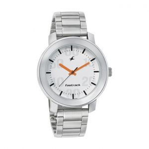 Silver Stainless Steel Analog Watch for Men-FTB0063