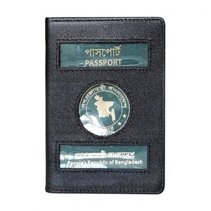 Master Kitchen Leather Passport Cover with Multi Pocket - Black