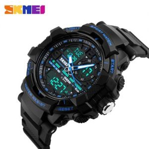 SKMEI Analog-Digital White Dial Men's Watch-1164 Black