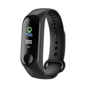 M3 Heart Rate Monitor Smart Band- Black