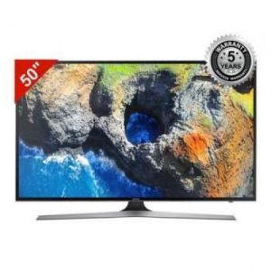 "Samsung - 4K Flat Smart TV 50"" UA-MU7000K - Black"