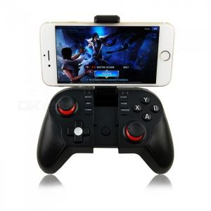 T9 Bluetooth Wireless Gamepad Joystick Controller w/ Bracket for Phone, Pad, Smart Box, Smart TV, PC - Black & Red
