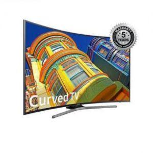 Samsung - 65'' KU6500 4K Smart Curved TV - Black