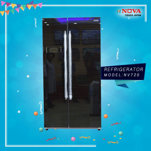 Nova Side By Side Door Refrigerator (NV-720)
