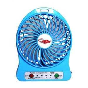 Mini Portable Desktop Fan  - Blue