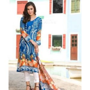 Unstitched pakistani Digital Printed Lawn for Women