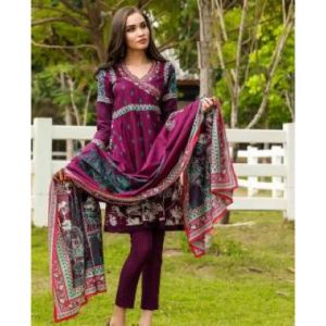 Unstitched pakistani Digital Printed Lawn for Women	-DKF0080