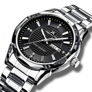 Silver Stainless Steel Analog Watch for Men-FTB0031