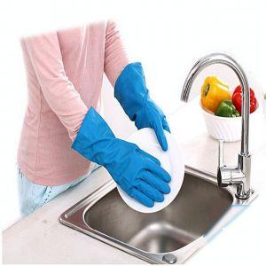 Master Kitchen Half Hand Kitchen Gloves one Pair - Blue