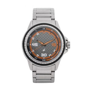 3142SL01C - Metal Wrist Watch For Men - Silver