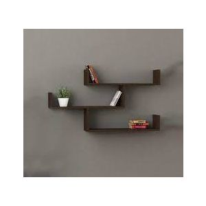 Malaysian Processed Wood Wall Hanging Shelf - Grey