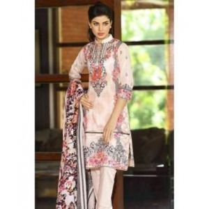 Multicolor Cotton Unstitched Pakistani Lawn for Women