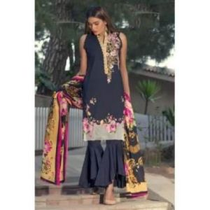 Unstitched pakistani Digital Embrodary Lawn for Women