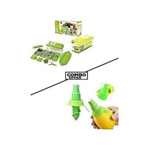 Combo Pack Nicer Dicer Plus and Lemon Juice Sprayer - Green