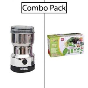 Combo of Electric Grinder and Nicer Dicer Plus - Silver and Green