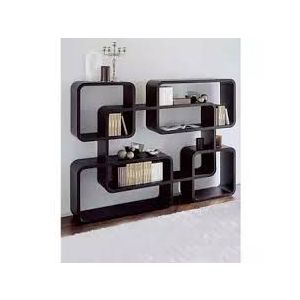 Malaysian Processed Wood Wall Hanging Shelf - Black