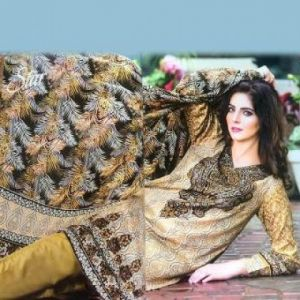 Multicolor Cotton Unstitched Pakistani Lawn For Women-DKF0096