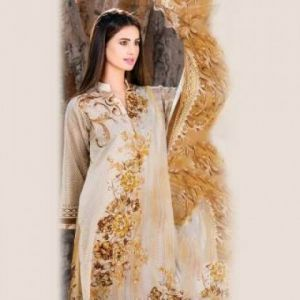 Multicolor Cotton Unstitched Pakistani Lawn For Women	DKF0099